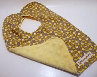 Gray and Yellow Shabby Bib