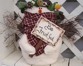 Felt Snowman Angel Be Fruitful
