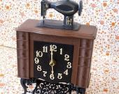 Sewing Machine Clock - Electric