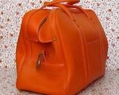 Vintage Orange Luggage Bag