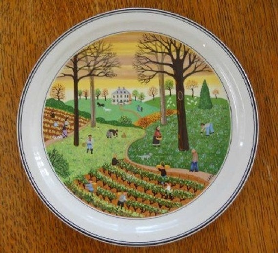 Villeroy and boch four seasons wall plates for Villeroy and boch plates