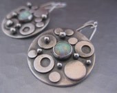 Bubble Earrings  Sterling silver rounds with Opals