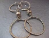 Long Sterling Silver Hoop Earrings