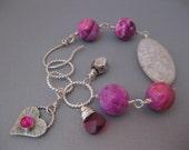 Ruby Crazy Lace Agate Bracelet