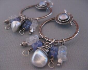 Blue Sky Hoop Earrings