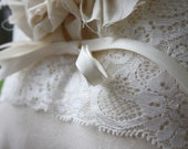 Lacy Lola Ivory Vintage Lace Wedding Ring Bearer pillow