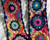 Bulky and beautiful floral scarf, colorful and bright