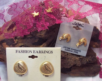 Bird Earrings 3 Pair No Clean Up Required Vintage Jewelry  Great  Gift Jewellery