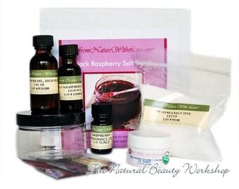 Black Raspberry Salt Scrub Craft Kit