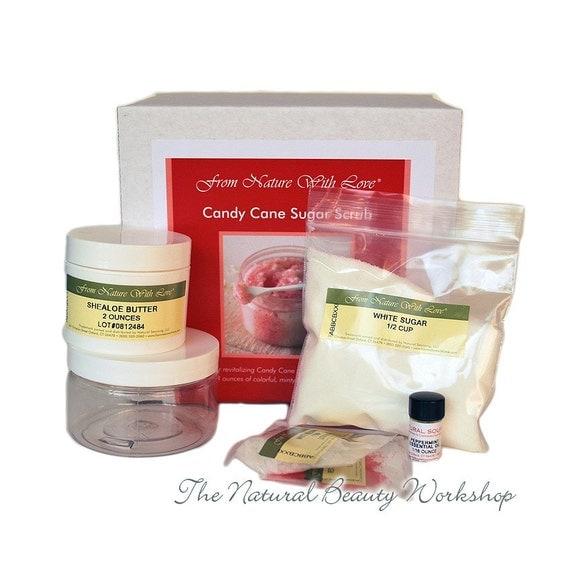 Candy Cane Sugar Scrub Craft Kit