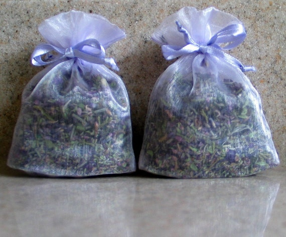 2 Lavender Sachets- Filled with Our Own Homemade Potpourri