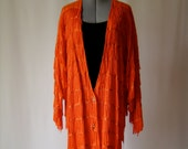 RESERVED FOR oohmoo orange fringe maxi jacket