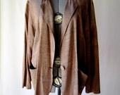 slouchy boyfriend blazer in silk shantung- like rayon size medium/large