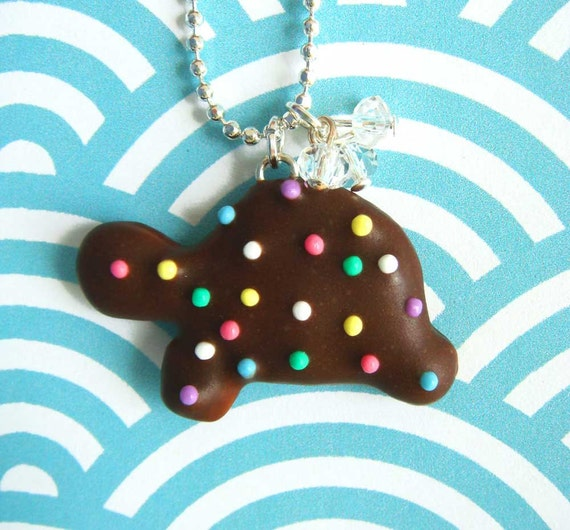 Turtle Animal Cookie Necklace - SALE - Ready to Ship