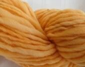 Orange Crush Handspun Art Yarn 132 yards