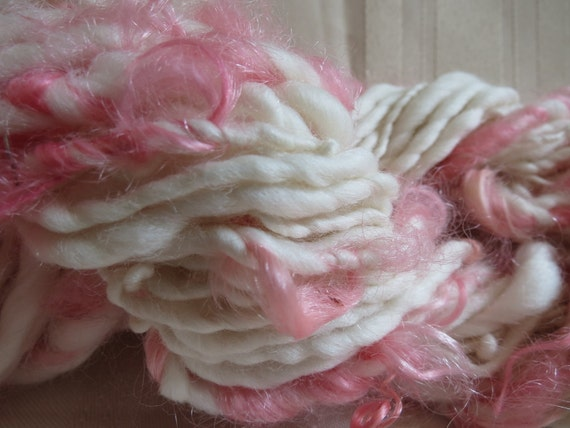 Hippity Hop Bulky Handspun THick and Thin Art Yarn chunky photo prop accent newborn hats scarves