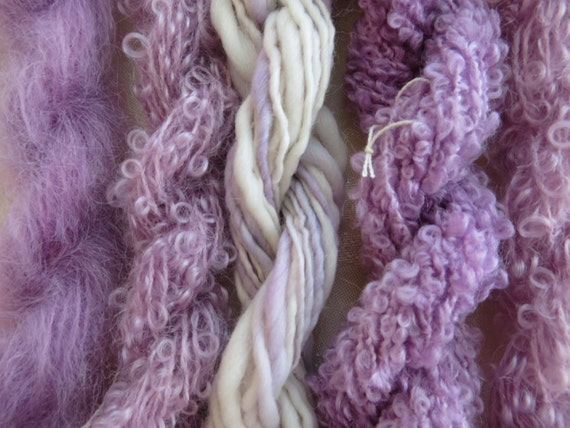 Assorted Mohair Boucle Mini skeins Yarn No.53