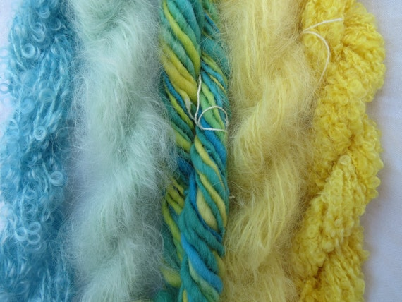 Assorted Mohair Boucle Mini skeins Yarn No.4