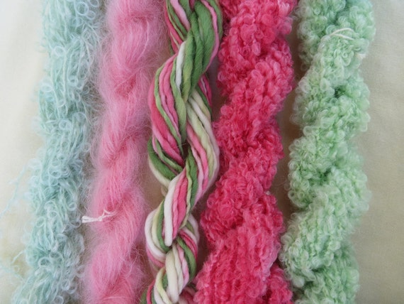 Assorted Mohair Boucle Mini skeins Yarn No.34