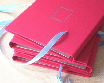 Photo Album Portfolio in Pink Scarlet