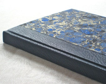 Leather Journal Sketchbook with Marbled Paper