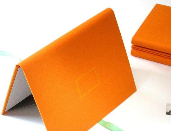 Photo Album Portfolio in Tangerine