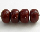 Chocolate Brown Lampwork Glass Spacer Beads