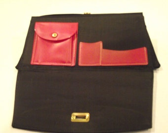 Vintage Clutch Blue Flip Open Purse