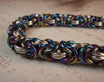 Ice Faerie Byzantine Bracelet