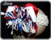 SASSYLILPRINCESSES..Boom Boom 4th of July Boutique Bow and Interchangeable Headband