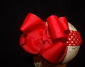 SASSYLILPRINCESSES..Double Layered ReD Boutique Bow and Interchangeable Headband
