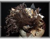 Giraffe Safari Hairbow..Safari Babe Spikey Layered Boutique Bow and Headband..Great for Newborn Toddler big Girl