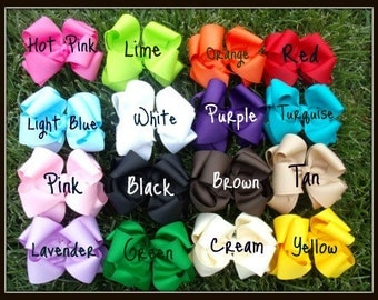 Boutique Hairbows 20% OFF You Pick 5 Double Layered Hair Bows with Headbands...WoW...Newborn Toddler Big Girl   SALE