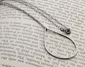 Teardrop Pendant on Oxidized Sterling Chain Necklace