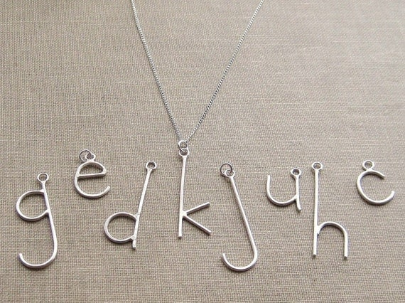 Reserved - E is for Emmy, Pick Your Letter, Custom Initial Letter Necklace on Sterling Chain