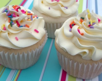 Party Cupcakes with Sprinkles- Local Delivery Only