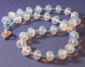 Blue Moonstone Necklace and Bracelet