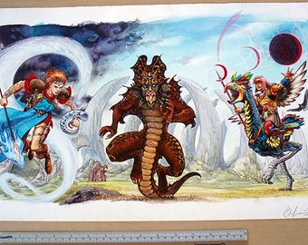 Three HeroQuest Covers (Storm Tribe, Barbarian Adventures, Imperial Lunar Handbook)