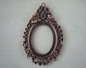 Antique Bronze Pendant Setting, 1 piece, 27x37mm, Oval Pendants, Jewelry Findings, Jewelry Supplies, Diy Crafts, Zardenia