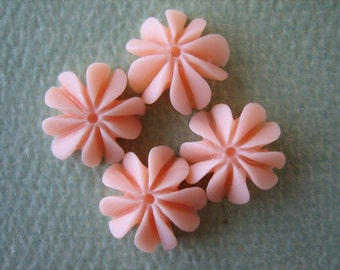 4PCS - Mini Coral Cabochons - Resin - Peach - 10mm - Findings by ZARDENIA