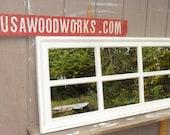cream window  pane  mirror  distressed cottage   ............  rectangular .................