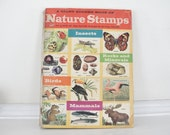 Vintage Book, Vintage Nature Stamp Book, Giant Golden Book of Nature Stamps, Birds, Insects, Rocks and Minerals, Mammals.