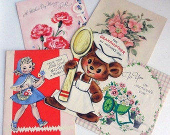 Vintage Mothers Day Card Collection for Collage or Scrap Book Projects C103