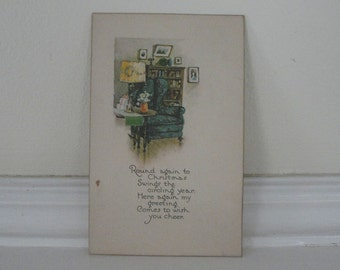 Christmas Holiday Greeting Vintage Postcard 1910s