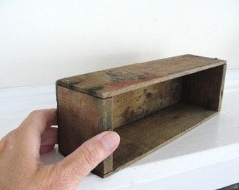 Vintage Wooden Cheese Box Vintage Rustic Windsor Club Box