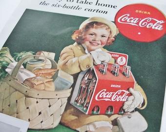Vintage Advertisement, Vintage Coca Cola Ad, Vintage Advertising, 1938 Good Housekeeping Magazine, Home Decor, Wall Decor, Nostalgia
