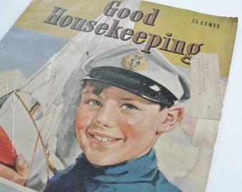 Vintage Magazine Cover Vintage 1939 Good Housekeeping Magazine Cover
