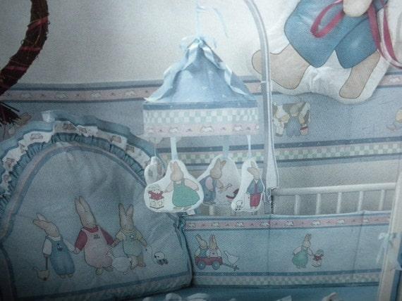 Honey Bunny Nursery 1988 Daisy Kingdom Rabbit Soft Sculpture