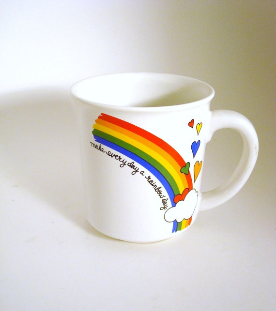 Happy Juice - Vintage Rainbow Coffee Mug, LGBT in the Morning