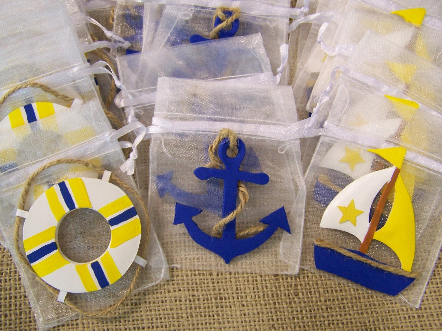 Nautical Theme Baby Shower Favor Bags 20 on anchor party decorations
